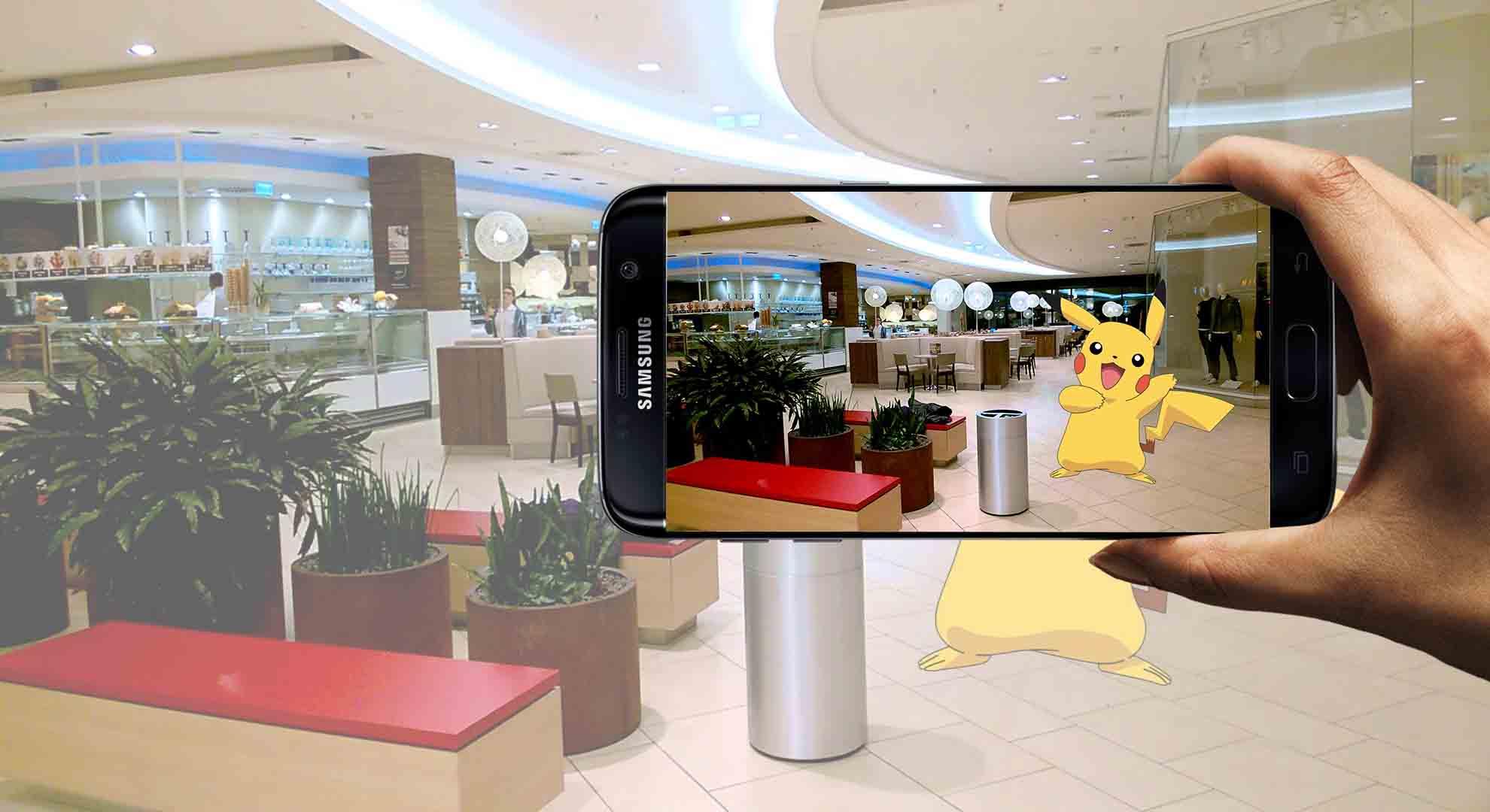 AR tech with pokemon